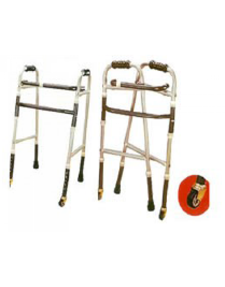 WALKER FOLDING ADJUSTABLE WITH WHEEL