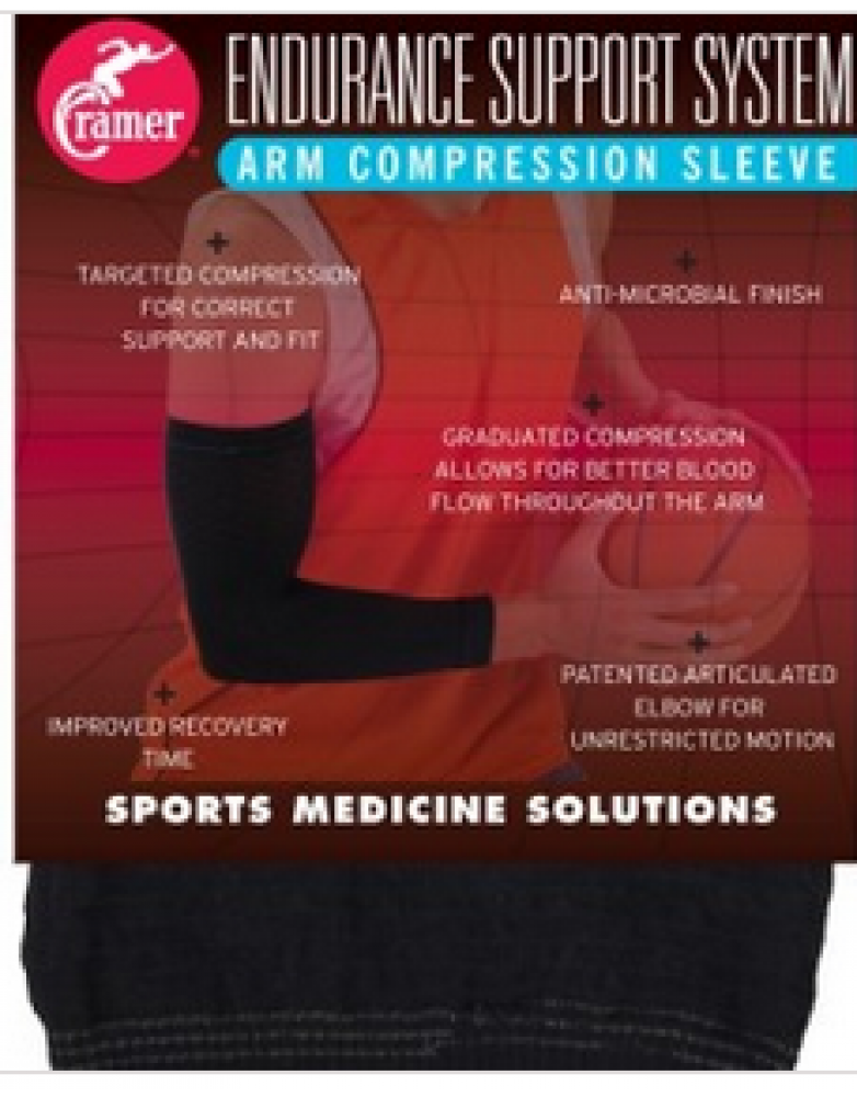 E4 ESS ARM COMPRES SLV BLACK