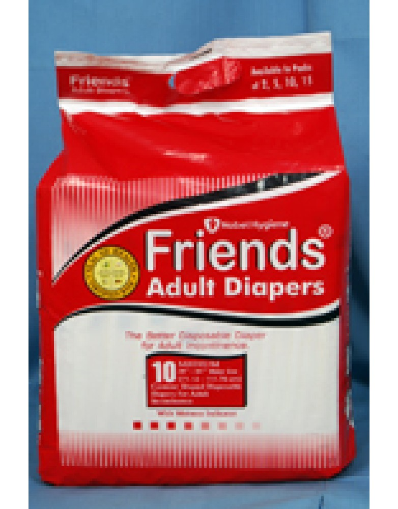 Friends Adult Diaper (Pack of 10)