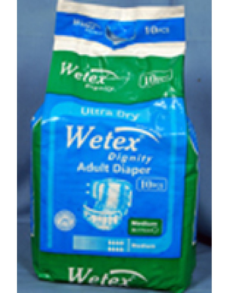 Wetex Adult Diaper (10 Pack of 10 pieces each)