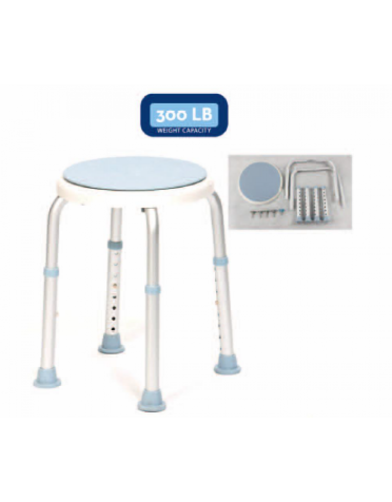 Bath Stool with Rotating Seat (BE62050)