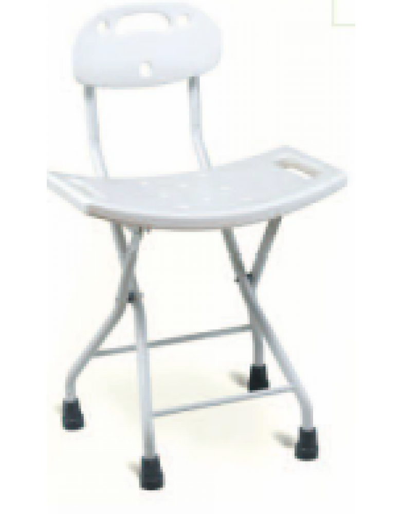 Foldable Shower Chair with Backrest (BE62043)