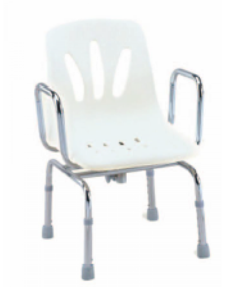 Stainless steel swivel shower chair on the Floor (BE62047)