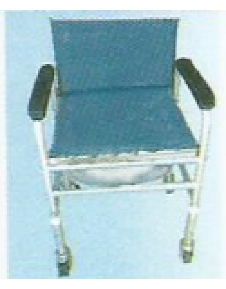 Invalid Adj Commode with back Rest / Fixed