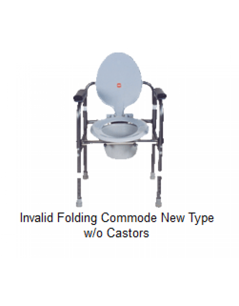 Invalid Folding commode New Type W/O Castors