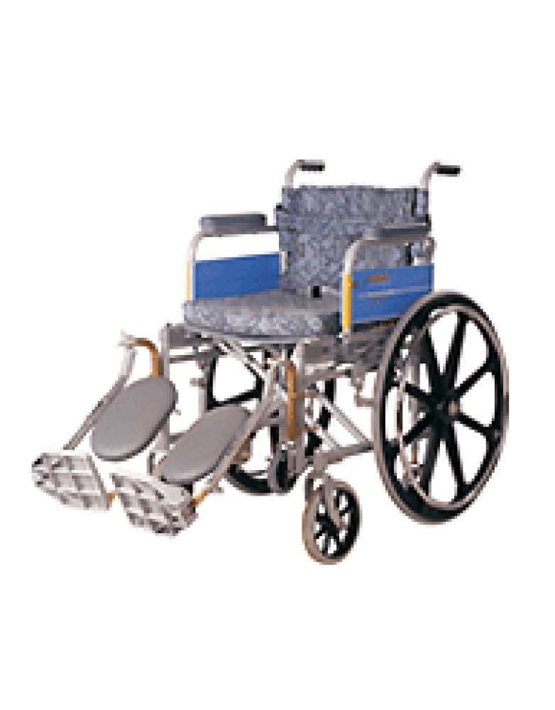 Invalid Wheel Chair Deluxe , Elevated Foot Rest , Mag Wheels